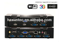 fanless mini itx case/ mini slient pc with RS232, COM , Linux , windows os support