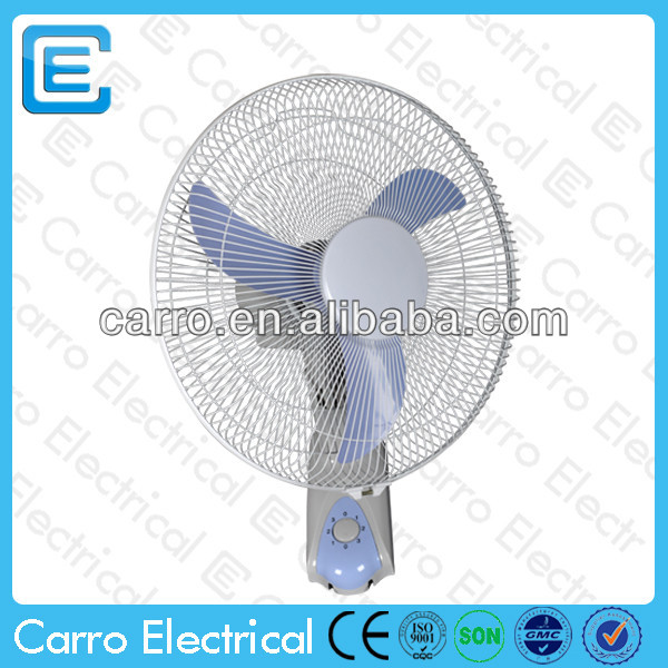 AC DC double-duty 16inch solar power mini camping wall fan with 12v dc motor ADC-12V16F