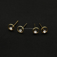 1.5 mm 20pcs/box fashion 925 Sterling silver indian gold nose studs pins piercing nose