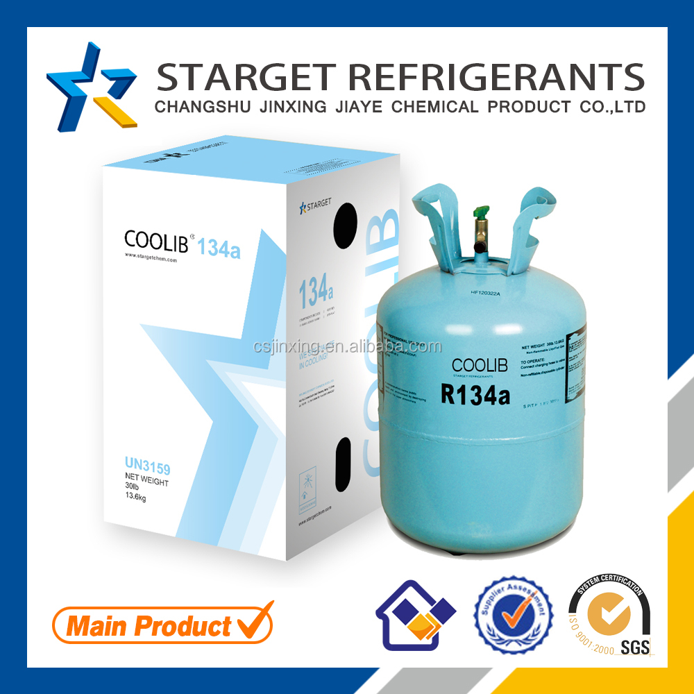 Used in air condition high quality gas refrigerant r134a all types for sale