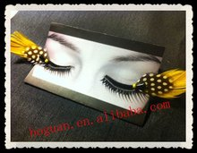 fashion natural feather individual eyelashes extensions glue in korea
