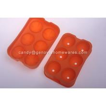 Sedex 4-Pillar Factory bean silicone ice cube tray made in China