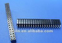 2.54mm*7.0mm Round sip socket 30 pin connector with straight