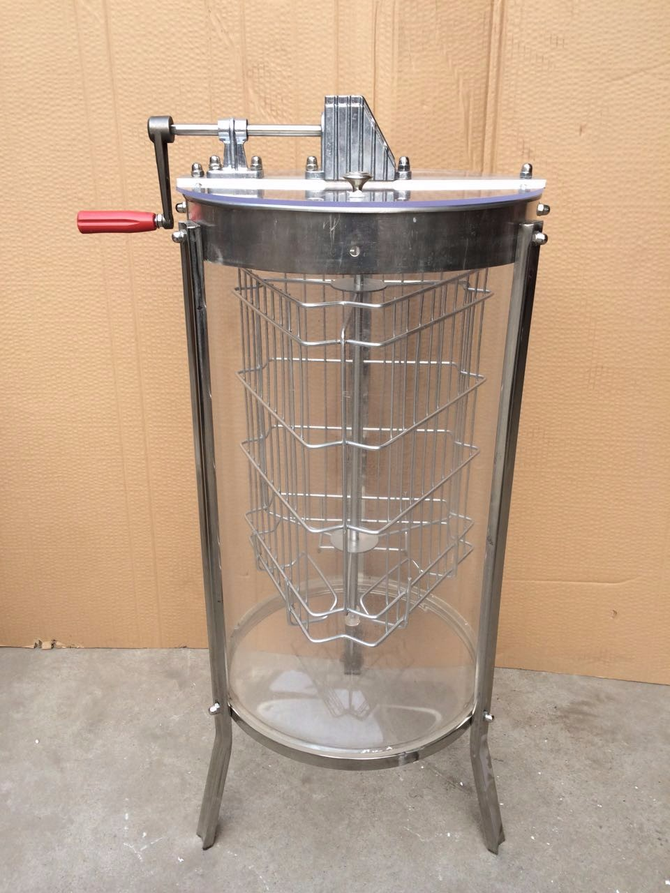 2016 Hot Sale 3 Frame Plexiglass manual Honey Extractor