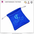 custom small microfiber fabric gift drawstring pouch