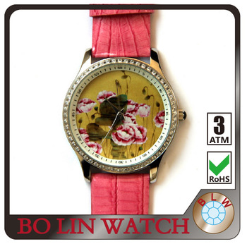 watch FOR SALE, ladies watch stainless steel case, women watch genuine leather strap