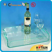 Widely Used Customized Plexiglass Tray Acrylic Serving Tray Clear Acrylic Tray Wholesale