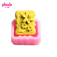 Z568 Flower Shaped Soap Molds Silicone Cake Decoration