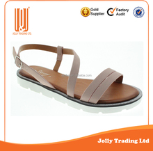 Hot New Goods PU Flat Simple Ladies Formal Flat Sandals