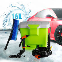 (1021) 2015 WR-CW16E Mobile car wash machine with 16L tank, Portable car washer equipment for car cleaning
