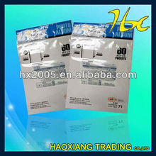 plastic bag clear self adhesive packing for book