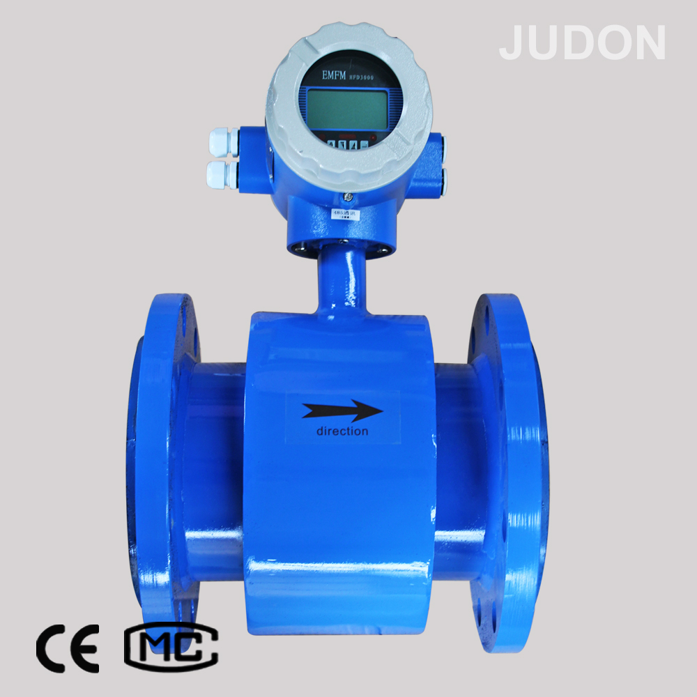 "5"" Electromagnetic Flow Meter water flow rate sensor flow meter monitor"