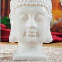 India buddhist statues wholesale white decorative ceramic buddha head figurine