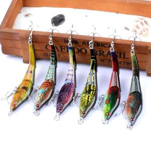 Fulljion 3 Sections VIB Fishing Lures Painting Series Wobblers Crankbaits Artificial Hard Baits Pesca