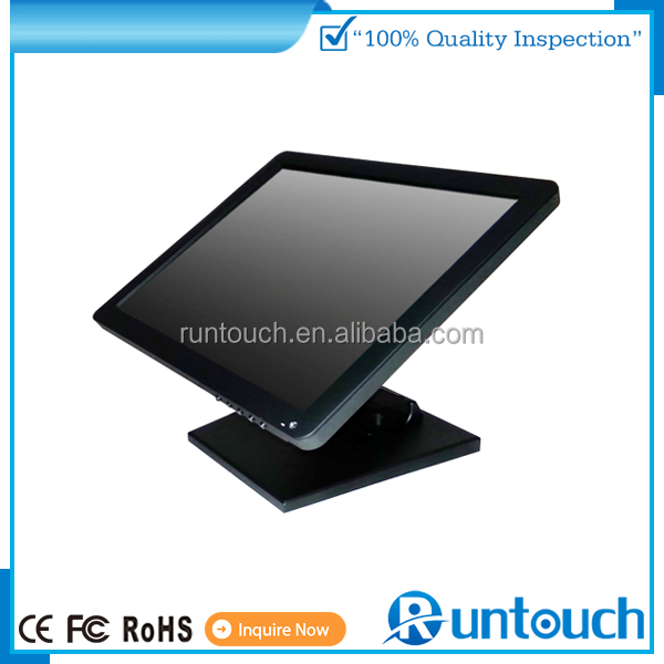 Runtouch RT-1500 OEM 15 inch True Flat Bezel Free USB Touchscreen Monitor for Kiosks