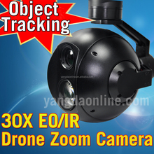 Drone Zoom Camera 30X EO/IR Dual Sensor Night Vision and Gimbal with Track Module for Drone Iinspection,Surveillance,Search