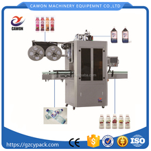 automatic plastic round quadrate tapered drink bottle label sleeve shrink machine