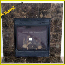 Spain natural emperador stone for fireplace, precut marble fireplace emperador