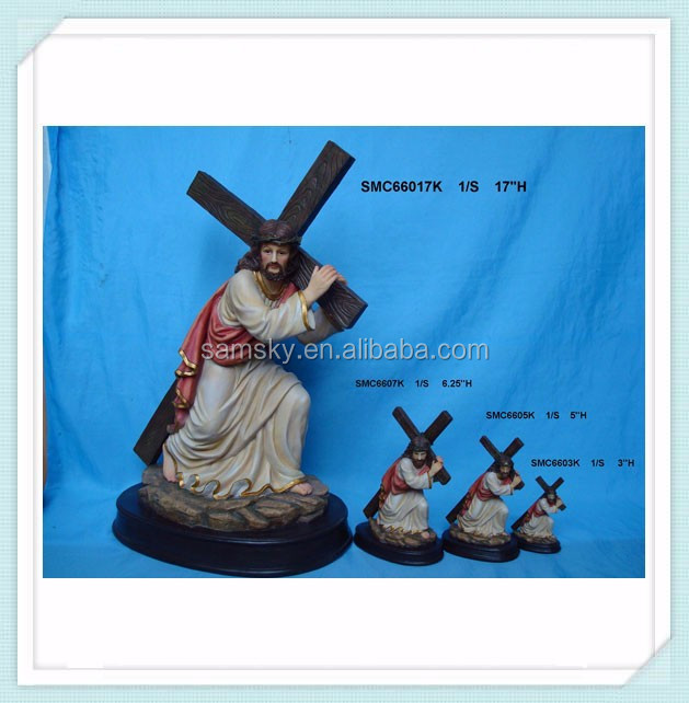 resin religious crosses jesus carrying the cross