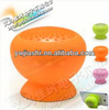Mushroom shape Li-battery USB cable mini silicone sucker bluetooth speaker