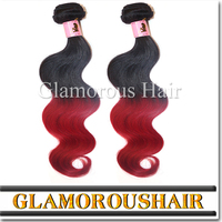 Human remy weaving colored three tone hair weave
