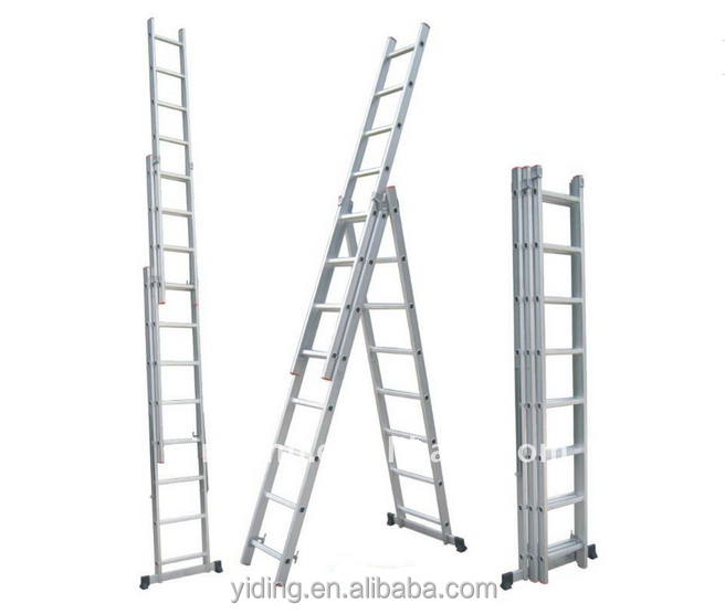Aluminium Ladder ,Aluminum three section extension ladder