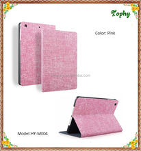 Pink Cowboy Grain Folio Leather Stand Case Fold Tablet Cover for iPad mini 3