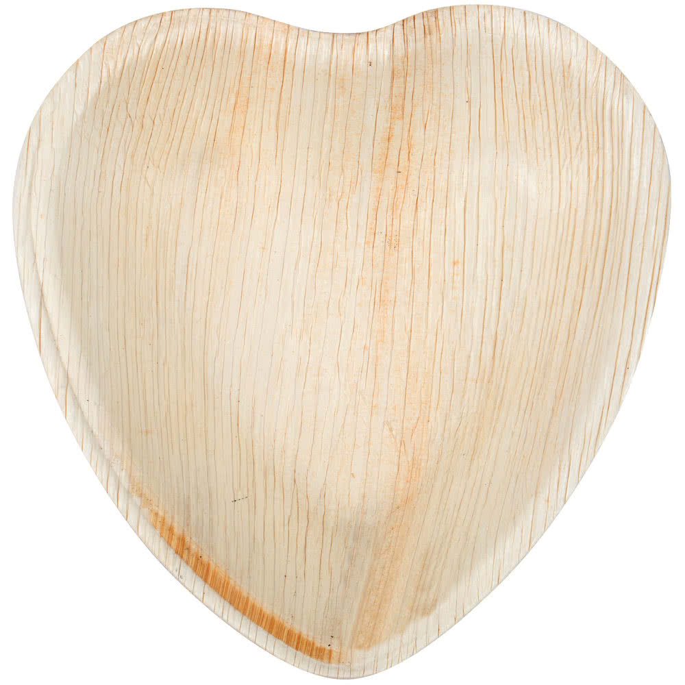 Sustainable party areca disposable heart shape Palm leaf plates