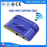 Strong R&D ablity Gigabit 4 LAN port WIFI Epon ONU router work with Huawei