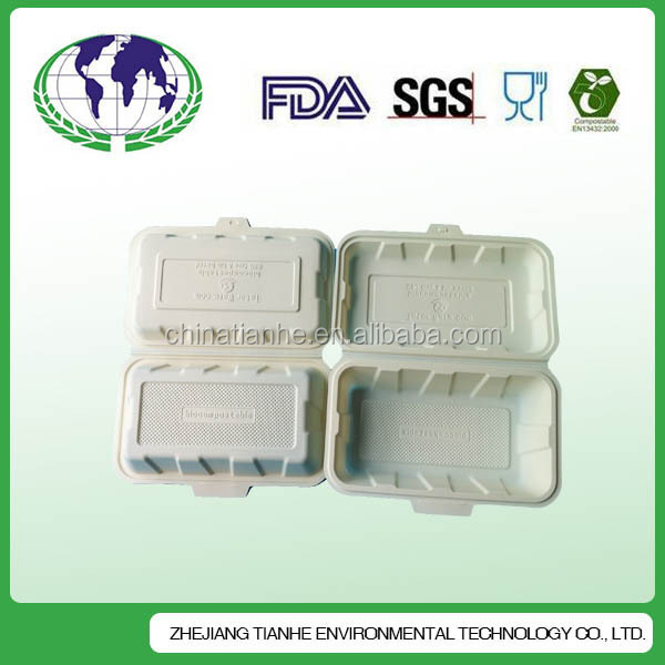 Eco-friendly corn starch lunch box with SGS LFGB