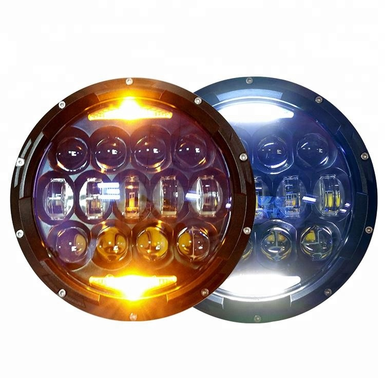 Top Selling 7 inch 130 <strong>W</strong> Round Led Headlight 12v 24v Hi/Low Beam for Jeep Wrangler