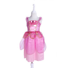 Baby girl holiday dress rose red princess costume for carnival costume
