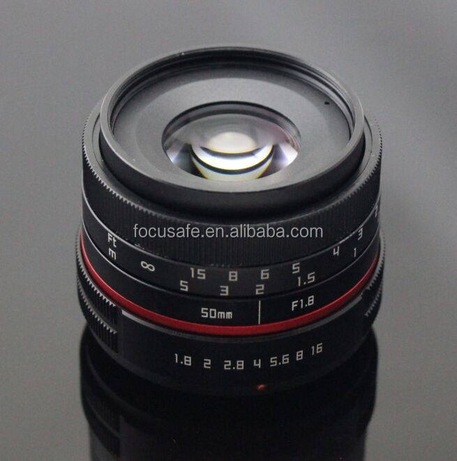 Fujian New Design 50mm Mirrorless Camera Lens with FX NEX M4/3 Mount