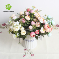5 Stems Mini Roses Artificial Flower Various Colors