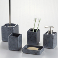 Home Accessories New Modern marble decaled Ceramic Bath Gift Sets Wholesale
