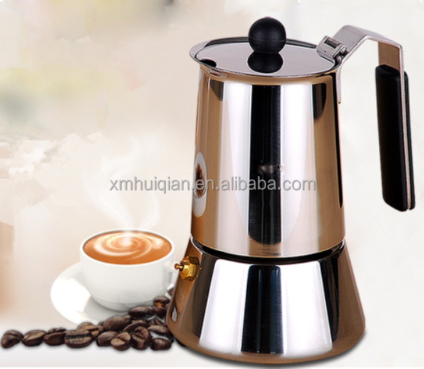 Hot sale 4 cups stainless steel electric personalized turkish moka drip coffee pot