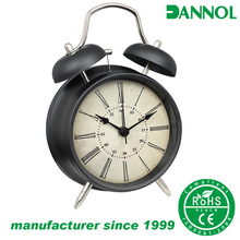 guangzhou wholesale 4inch anique elderly room decor twin bell metal table alarm clock