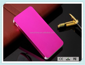 Ultra thin best gift power bank 10000mah portable charger mobile power bank