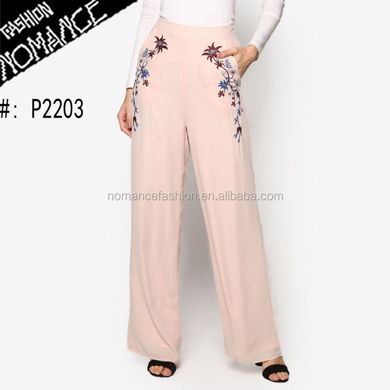 lady elephant Embroidered pants women