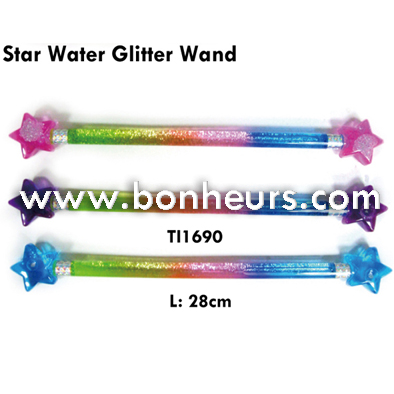 New Novelty Toy Colorful Double Bar Star Water Glitter Wand