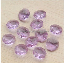Decoration polished beads 14mm octagon crystal