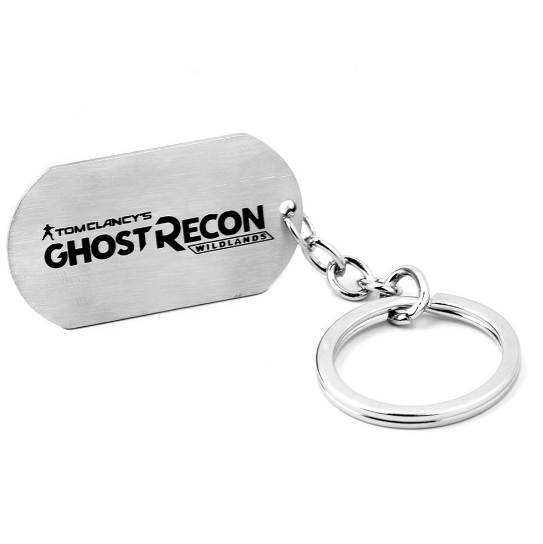 Ghost Recon Wildlands game peripherals ghost Keychain necklaces wholesale wild dog tags