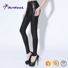 China wholesale custom women workout tight leather ladies pants