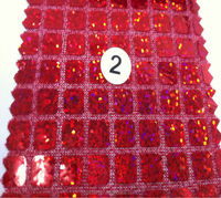 Colorful square sequin fabric,sparkling sequin table cloth