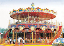 Factory Manufacturer of Outdoor Double Deck Luxury Luxurious Christmas Carousel for Children Rides