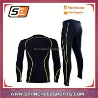 Stan Caleb 2016 Custom made performance Long Sleeves comfortable compression shirts set