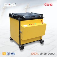GW42 cnc automatic 6-40mm round 50mm bending ability steel bar bender /wrought iron bending machine