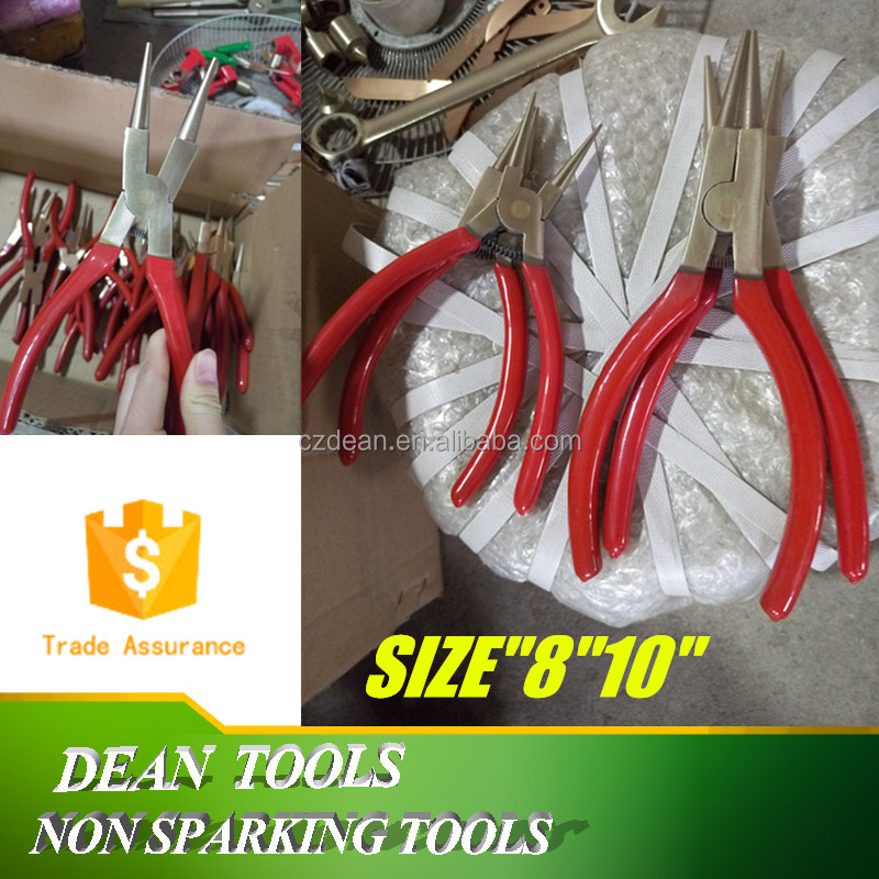 "Circlip Pliers 8"" 10"" Non Sparking Retaining Snap-Ring Pliers Albr Be-cu"