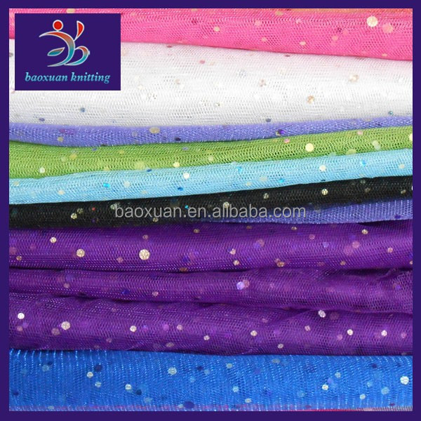 Polyester cheap colorful sequin fabric