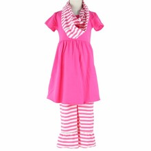 cotton frock suit design images girl outfit with scarf little baby clothing fall 2017
